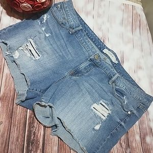 Torrid Distressed Jeans Shorts size 22